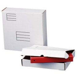 "Quality Park White Corrugated Binder Mailer - Corrugated - 12 1/4"" Width x 12"" Length - 3 7/8"" Gusset - Gummed - Fiberboard - 1Each - White"