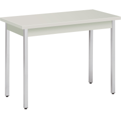 "HON® Laminate All-Purpose Utility Table, 29""H x 20""W x 40""D, Loft/Chrome"