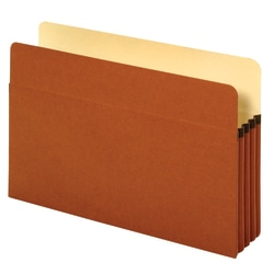 """Pendaflex® File Pockets, 3 1/2"""" Expansion, Legal Size, 30% Recycled, Brown, Box Of 25 File Pockets"""