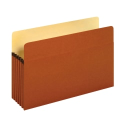 "Pendaflex® File Pockets, 5 1/4"" Expansion, Legal Size, 30% Recycled, Brown, Box Of 10 File Pockets"