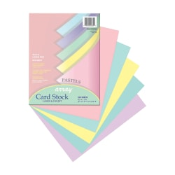 Pacon® Card Stock, Letter Paper Size, 65 Lb, Assorted, 100 Sheets