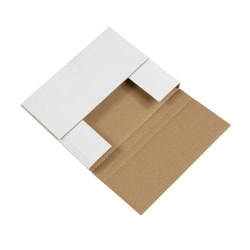 """Office Depot® Brand Easy-Fold Mailers, 10 1/4""""L x 8 1/4""""W x 1 1/4""""H, White, Pack Of 50"""