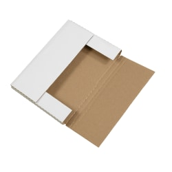 """Office Depot® Brand Multi-Depth Bookfold Mailers, 12 1/8"""" x 9 1/8"""" x 1"""", White, Pack Of 50"""