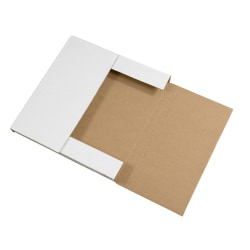 """Office Depot® Brand Easy-Fold Mailers, 12 1/2""""L x 12 1/2""""W x 1""""H, White, Pack Of 50"""