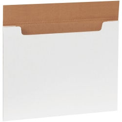 "Office Depot® Brand White Jumbo Fold-Over Mailers, 20"" x 16"" x 1/4"", Pack Of 20"