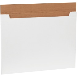"""Office Depot® Brand White Jumbo Fold-Over Mailers, 30"""" x 22 1/2"""" x 1/4"""", Pack Of 20"""