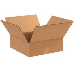 "Office Depot® Brand Flat Boxes, 12"" x 12"" x 4"", Kraft, Pack Of 25"