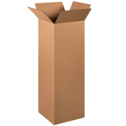 """Office Depot® Brand Tall Boxes, 12"""" x 12"""" x 36"""", Kraft, Pack Of 15"""
