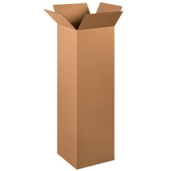 """Office Depot® Brand Tall Boxes, 12"""" x 12"""" x 40"""", Kraft, Pack Of 15"""