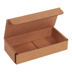 "Office Depot® Brand Corrugated Mailers, 1-1/4""H x 3-1/4""W x 6-1/2""D, Kraft, Bundle Of 50 Mailers"