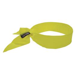 Ergodyne Chill-Its® 6702 Evaporative Cooling Bandanas, Lime, Pack Of 12 Bandanas