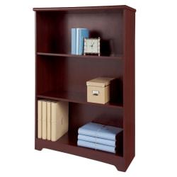 Realspace® Magellan Collection 3-Shelf Bookcase, Classic Cherry
