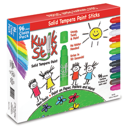 The Pencil Grip Kwik Stix Solid Tempera Paint Sticks, Assorted Colors, Pack Of 96 Sticks