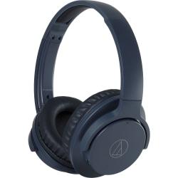 Audio-Technica QuietPoint Wireless Active Noise-Cancelling Headphones - Navy