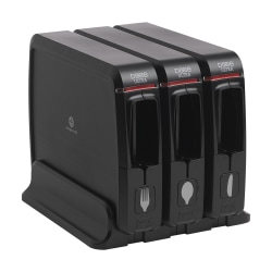 Dixie® Ultra SmartStock Series-W Wrapped Cutlery System Dispensers, Black, Pack Of 3 Dispensers