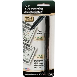 Dri-Mark® U.S. Counterfeit Money Detector Pen, Black