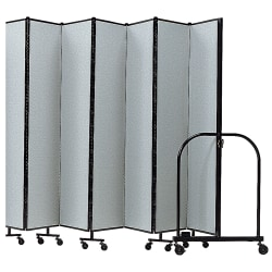 "Screenflex Portable Room Partition Divider, 72""H x 157""W, Gray"