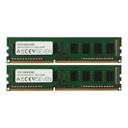 V7 - DDR3 - kit - 4 GB: 2 x 2 GB - DIMM 240-pin - 1600 MHz / PC3-12800 - CL11 - unbuffered - non-ECC