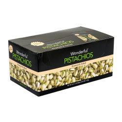 Wonderful Roasted And Salted Pistachios, 1.5 Oz, Pack Of 24 Bags