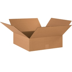 "Office Depot® Brand Flat Corrugated Cartons, 18"" x 18"" x 6"", Kraft, Pack Of 20"