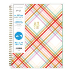 """Blue Sky™ Snow & Graham CYO 14-Month Tabbed Planner, 8-1/2"""" x 11"""", Madras, June 2020 To July 2021, 1209"""