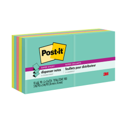 "Post it® Notes Super Sticky Notes, Pop-Up, 3"" x 3"", Miami, Pack Of 10 Pads"