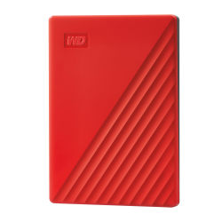 Western Digital® My Passport Portable External Hard Drive, 2TB, WDBYVG0020BRD-WESN, Red
