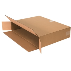 """Office Depot® Brand Side Loading Corrugated Cartons, 24"""" x 5"""" x 18"""", Kraft, Pack Of 25"""