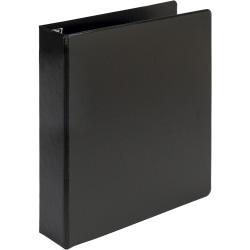 "Samsill® Earth's Choice Label Holder 3-Ring Binder, 1 1/2"" D-Rings, Black"
