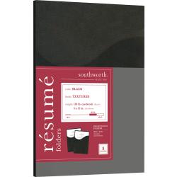 "Southworth® Professional Presentation Folders, 9"" x 12"", Black"