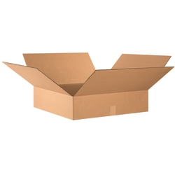 "Office Depot® Brand Flat Boxes, 24"" x 24"" x 6"", Kraft, Pack Of 10"