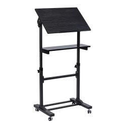 "Mount-It! MI-7941Mobile Stand-Up Desk Lectern, 41""H x 20""W x 5-15/16""D, Black"