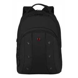 """Wenger® Upload Backpack With 16"""" Laptop Pocket, Black"""