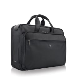 "Solo® Paramount 16"" Smart Strap Briefcase, Black"