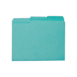 Smead® Interior Folders, Letter Size, Aqua, Box Of 100