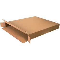 "Office Depot® Brand Side Loading Corrugated Cartons, 36"" x 5"" x 42"", Kraft, Pack Of 5"