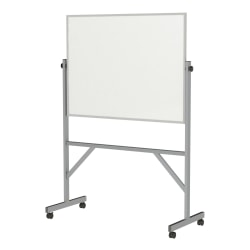 """Ghent Reversible Magnetic Dry-Erase Board, 72"""" x 53"""", Silver Aluminum Frame"""