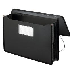 """Smead® Poly Premium Wallet, 5 1/4 Expansion, Legal Size, 16 1/2"""" x 10 1/4"""", Black"""