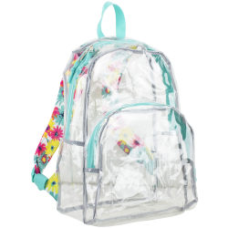 Eastsport Clear PVC Backpack, Floral Print