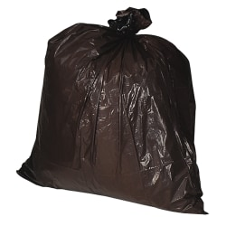 """Genuine Joe 1.5 mil Trash Bags, 33 gal, 33""""W, Brown, 100 Bags"""