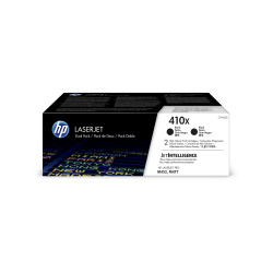 HP 410X (CF410XD) High Yield Black Original LaserJet Toner Cartridges, Pack of 2