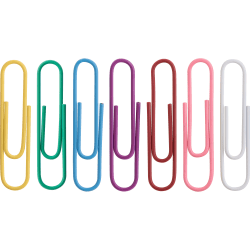 Sparco Vinyl-Coated Gem Clips, No. 2, Assorted Colors, Box Of 200 Clips