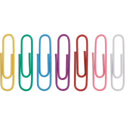 Sparco Vinyl-Coated Gem Clips, No. 1, Assorted Colors, Box Of 500 Clips