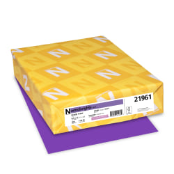 """Neenah Astrobrights® Bright Color Paper, Letter Size (8 1/2"""" x 11""""), 24 Lb, FSC® Certified, Gravity Grape, Ream Of 500 Sheets"""