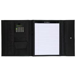 "Mead® Cambridge City™ Microfiber Trifold Padfolio, 12 5/8"" x 10 5/8"", Black"