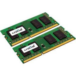 Crucial 8GB (2 x 4 GB) DDR3 SDRAM Memory Module - For Notebook - 8 GB (2 x 4 GB) - DDR3-1600/PC3-12800 DDR3 SDRAM - CL11 - 1.35 V - Non-ECC - Unbuffered - 204-pin - SoDIMM