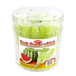 Espeez Rock Candy Sticks, Green Watermelon, Tub Of 36