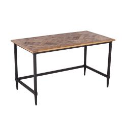 "SEI Lawrenny 53""W Reclaimed Wood Desk, Natural/Black"