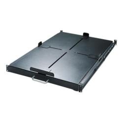 Schneider Electric Sliding Shelf 200lbs/91kg Black - 1U Rack Height - Rack-mountable - Black - 200.42 lb Static/Stationary Weight Capacity