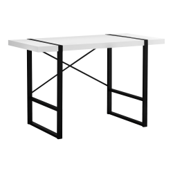"Monarch Specialties Jared 49""W Computer Desk, White/Black"